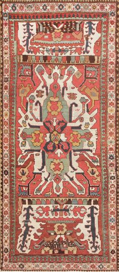 Tribal and Collectible Antique Caucasian Chelaberd Eagle Kazak Rug 47473 Main Image - By Nazmiyal
