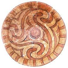 Ceramica dipinta, piatto policromo, piatto decorato, Cucuteni-Trypillian