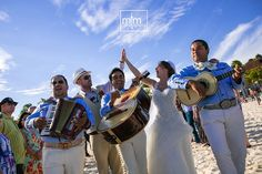 RIU Palace Mexico Wedding - Mariachi at the beach - Destination Wedding Playa del Carmen, Mexico