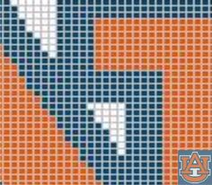 Auburn Tigers (D17) via Loopaghans Custom Crochet. Click on the image to see more!