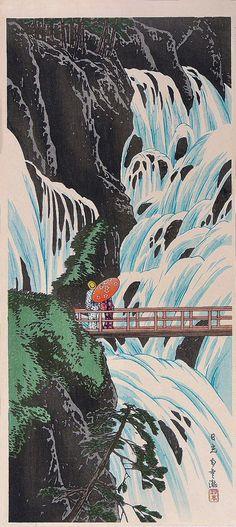 Shirakumo no Taki Nikko Ps Wallpaper, Scenery Wallpaper, Wallpaper Backgrounds, Japanese Artwork, Japanese Painting, Chinese Painting, Chinese Art, Japanese Prints, Photo Wall Collage