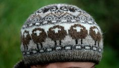 sheep heid is available for 250 A celebration of Shetland sheep shades for Shetland wool week This tam features jolly sheep around the brim and horned rams atop the crown. Knitting Stitches, Knitting Patterns Free, Knitting Yarn, Knitting Buttonholes, Wooly Hats, Knitted Hats, Shetland Wool Week, Fair Isle Pattern, Fair Isle Knitting