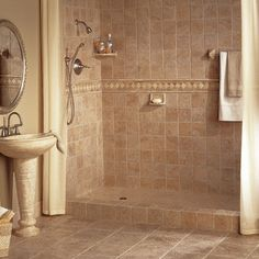 Bathroom Tile Ideas For Small Bathrooms Pictures travertine slate shower design, pictures, remodel, decor and ideas