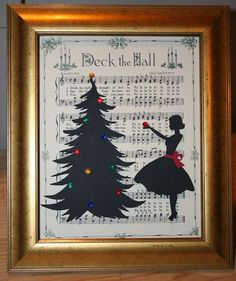 10 Gorgeous Holiday Silhouette Projects and BLACK FRIDAY DEAL! - Girl Loves Glam - Silhouette cameo project for Christmas Informationen zu 10 Gorgeous Holiday Silhouette Projects and - Christmas Art, Christmas Projects, Vintage Christmas, Christmas Holidays, Christmas Ornaments, Black Christmas, Child Christmas Crafts, Christmas Ideas, Christmas Sheet Music