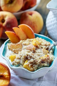 Crock-Pot Peaches and Cream Oatmeal - 66 Crock-Pot Recipes (that You'd Never Guess Were Made in a Slow Cooker)!
