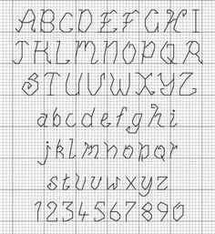 back stitch alphabet charts | FREE Alphabet Download | Cross Stitcher