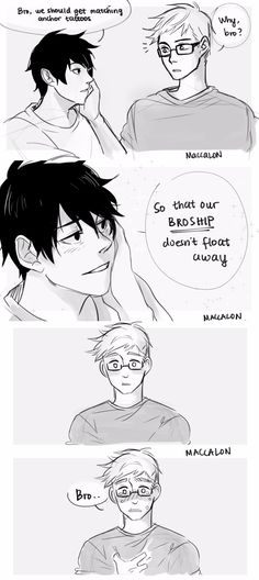 maccalon: jercy brotp stuffs based on tumblr prompt screenshots i found on facebook!! sorry i don't know the source ; _ ; ughh   but yes some anons were asking for jercy too! so here you go, some derp brotp moments <3