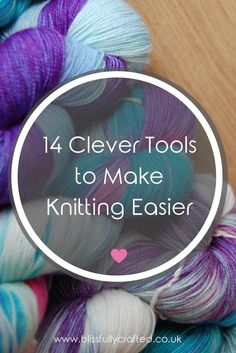 These 14 clever knitting tools are designed to make our knitting bugbears so much easier to handle. Click through to find out my favourite knitting tools!
