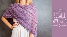 "SCIALLE AD UNCINETTO ""AMETISTA"" - YouTube Crochet Shawl, Sari, Hobby, Youtube, Fashion, Amethyst, Cape Clothing, Crochet Poncho, Crochet Stitches"