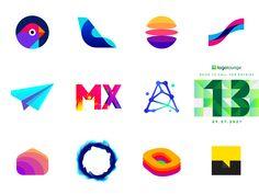 LogoLounge book 13 logos by Alex Tass, logo designer