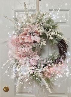 The most beautiful Christmas wreath for the front door
