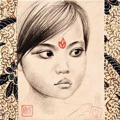 Stéphanie Ledoux - Carnets de voyage: TOILES Travel Sketchbook, Ledoux, Face Pictures, Portrait Inspiration, Drawing People, Face Art, Medium Art, Cool Drawings, Art Inspo