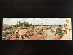Disneyland Vintage Panorama Postcard Main Street Town Square & Town Hall by VintageDisneyana on Etsy