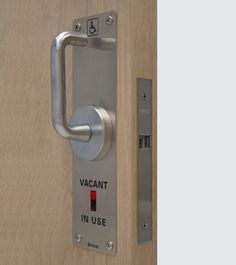 Designed for sliding toilet doors and supplied with indication etched into the side plates Pocket Door Hardware, Sliding Door Hardware, Pocket Doors, Sliding Doors, Toilet Door, Side Plates, Door Design, Dental, Door Handles