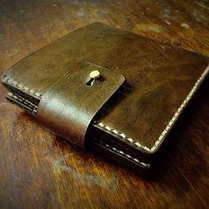 Купить Портмоне мужское из натуральной кожи - коричневый, портмоне мужское, портмоне, портмоне кожаное, бумажник