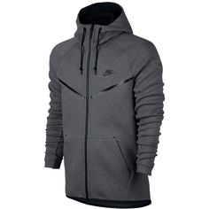 Nike Men's Tech Fleece Windrunner Hoodie ($130) ❤ liked on Polyvore featuring men's fashion, men's clothing, men's hoodies, carbon heather, mens hooded sweatshirts, mens hoodies, lightweight mens hoodies, mens lightweight hoodie and mens hoodie