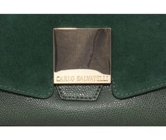 Carlo Salvatelli Green Suede / Leather Top Handle