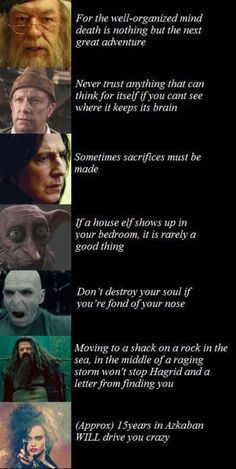 Things we have learned from harry Potter!