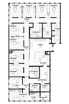 Medical office layout sample floor plans and photo for Ron lee homes floor plans