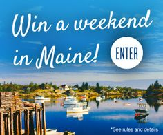 Escape to Maine for the weekend! Prize includes; airfare, stay at The White Barn Inn, spa treatments and more. Enter now: tastingtable.com/maine2015