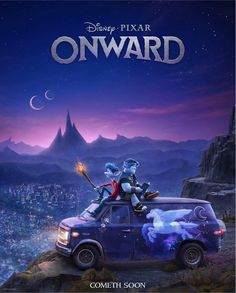 Last night, fans enjoyed a first look at Disney and Pixar's Onward, a new original film featuring the voices of Chris Pratt, Tom Holland, …Read Chris Pratt, Film Disney, Disney Movies, Disney Movie Posters, Disney Disney, Movies To Watch, Film Pixar, Films Netflix, Animation Disney