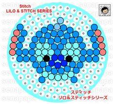 Tsum Tsum Lilo& Stitch perler bead pattern