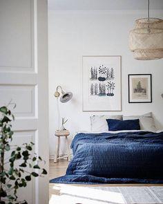 Korblampe fürs Schlafzimmer