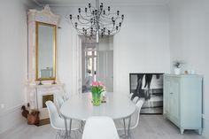 Post: Piso elegante y moderno con elementos originales ---> estilo nordico, escandinavia, minimalismo, estilo clasico interiores, decoracion en blanco, decoracion decoracion dormitorios, decoracion de salones, decoracion decoracion comedores, cocinas modernas blancas