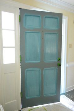 Painting a Front Door (tips on how, not taking it off hinges) | Young House Love