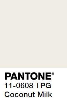 PANTONE coconut milk