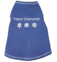 Hanukkah Dog Clothes Happy Chanukah TankPurchase...