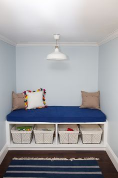 DIY Playroom Storage Bed