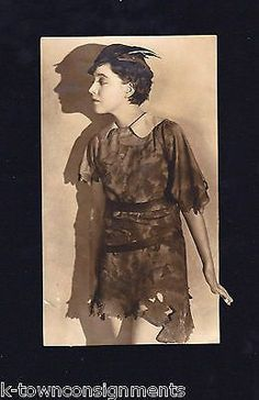 PETER PAN SILENT MOVIE & STAGE ACTRESS BETTY BRONSON ANTIQUE PROMO PHOTO 1924