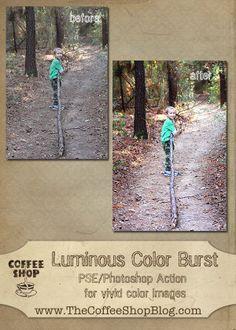 The CoffeeShop Blog - Luminous Burst Action