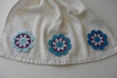 Crocheted Flowers - Shades of blue, lilac, and white by MJM Crafts, via Flickr