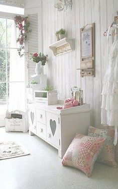 shabby chic...I could cut the heart out of the door of an old piece of furniture…