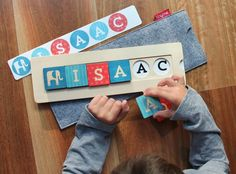 tiny me personalized name wooden blocks | Great keepsake holiday gift for a baby or toddler