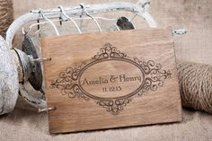 Wood Wedding Guest book, Rustic Wedding Guest book, Guest Book Personalized, Customized, Wedding Date and names Wood Guest Book, Rustic Wedding Guest Book, Guest Books, Welcome To Our Team, Damask Wedding, Wedding Glasses, Unity Candle, Personalized Books, Wedding In The Woods