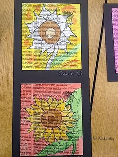 Sunflower painting would be really neat for children aged Kindergarten through 2nd grade. Uses foundations FA.1.55 and FA.1.62