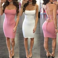 Sexy Strappy Halter Bandage Bodycon Dress