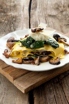 Open ravioli with jerusalem artichoke mash and mushrooms   Flickr