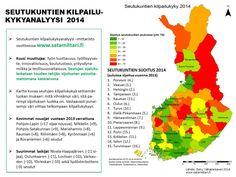 Suomi kilpailukyky 2014 seutukunnat