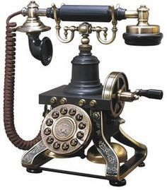 Eiffel Tower 1892 Replica Phone - Antique Reproduction Vintage Styled Telephone