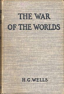 The War of the Worlds 1898 UK first edition.The War of the Worlds is a science fiction novel by English author H. G. Wells. The first appearance in book form was published by William Heinemann of London in 1898. It is the first-person narrative of an unnamed protagonist in Surrey and that of his younger brother in London as Earth is invaded by Martians. Written between 1895 and 1897, it is one of the earliest stories that detail a conflict between mankind and an extraterrestrial race.