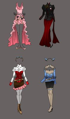 Fantasy Outfit Adopts 1 by serenofariane Cosplay Outfits, Anime Outfits, Cool Outfits, Manga Clothes, Drawing Clothes, Character Costumes, Character Outfits, Unique Costumes, Dress Drawing