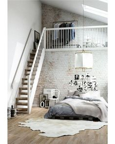 Bedroom Style New York Loft Bedroom.Charming Industrial Loft In New Taipei City IDesignArch . Dramatic Views And A Snazzy Interior Shape Loft Style . Loft Style Apartment Design In New York IDesignArch . Home and Family Design Loft, Design Case, House Design, New York Loft, Loft Apartment Decorating, Apartment Interior, Apartment Ideas, Apartment Cleaning, Apartment Goals