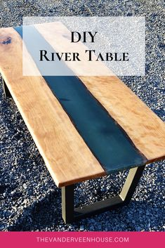 How to make a live edge river table using cherry wood and epoxy resin. Learn from my mistakes and find out what NOT to do! This coffee table turned out a beautiful deep teal color with a shiny gloss finish #rivertable #epoxyresin #diycoffeetable