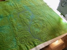 I am at Quilt Retreat all week. A few weeks ago I did some practice quilting on this Damask napkin in preparation. Quilting Thread, Longarm Quilting, Free Motion Quilting, Machine Quilting Designs, Quilting Ideas, Quilt Stitching, Damask, Quilt Patterns, Outdoor Blanket
