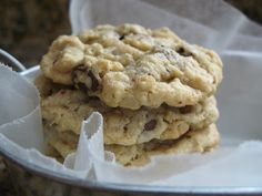 Kaitlyn's Outrageous Oatmeal-Chocolate Chip Cookies- recipe for HIGH ALTITUDE (came out great in Strawberry)