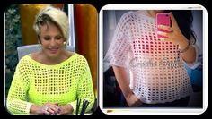 Croche Style: PAP Blusa gola canoa usada pela Ana Maria Braga
